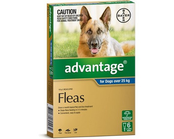 Advantage for Dogs over 25 kgs (over 55 lbs) - Blue - 6 Pack