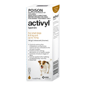 Activyl for Dogs 14-22 lbs (6.6-10 kg) - 6 Pack - Brown