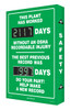 Digi Day 2 Electronic Safety Scoreboard  Accuform SCG117