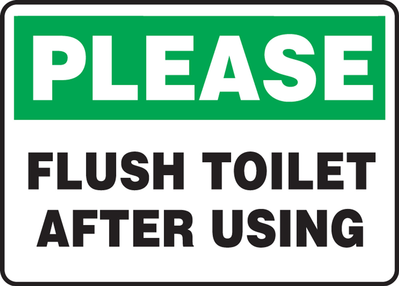 Bathroom Stencil Ideas Please Flush Toilet After Using Sign Provides Instructions