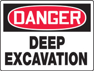 Danger Deep Excavation Sign - Max Aluma-Wood - 36'' X 48''