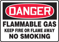 Danger - Flammable Gas Keep Fire Or Flame Away No Smoking