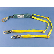 Dyna-Brake Shock Absorbing Lanyard by MSA- Ajustable, W/ Self Locking Snaphooks- 6 ft.
