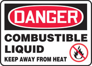 Danger - Combustible Liquid Keep Away From Heat