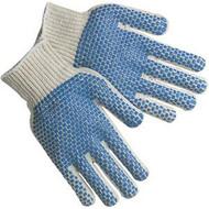 Work Gloves - PVC Dot Gloves 2 Sided Large (DZ)