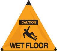 Caution Wet Floor Handy Cone Floor Sign