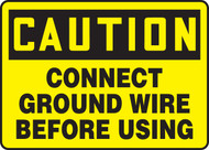 Caution - Connect Ground Wire Before Using