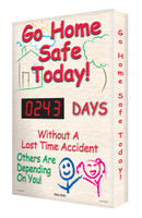 Outdoor Safety Scoreboard- Digi Day Plus- Go Home Safe Today! SCM314