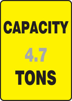 Capacity ___ Tons ___ - Accu-Shield - 14'' X 10''
