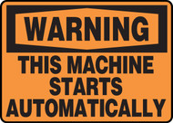 Warning - This Machine Starts Automatically