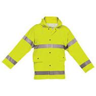 Reflective Rain Jacket- Lime- X Large