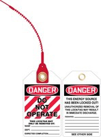 Danger Do Not Operate Loop Safety Tag -lock out tag