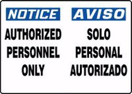 Authorized Personnel Only Sign- Bilingual Safety Sign 1