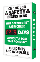 Outdoor Safety Scoreboards Digi Day Plus- On the Job Safety Begins SCM302