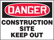 Danger - Danger Construction Site Keep Out - Max Aluma-Wood - 48'' X 72''