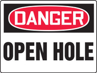 Danger - Danger Open Hole - Max Aluma-Wood - 36'' X 48''