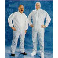 Disposable White Coveralls Hood & Boot -X Large  25/case