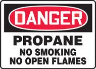 Danger - Propane No Smoking No Open Flames