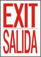 Bilingual Spanish Exit Sign 1