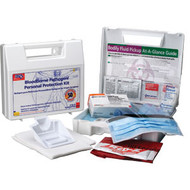 Bloodborne Pathogen Kit - 30 pc w/ 6 piece CPR Pack