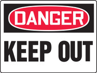 Danger Keep Out Sign- Max Aluma-Wood - 36'' X 48''