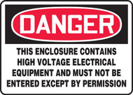 Danger - This Enclosure Contains High Voltage Electrical Equipment