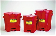 Eagle Poly Oily Waste Cans Red 10 gallon