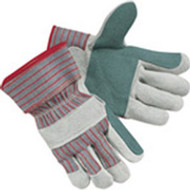 Work Gloves- Double Leather Palm- Large- DZ