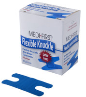 Blue Bandages Metal Detectable Knuckle Bandaids 50/ box