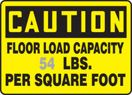 Caution - Floor Load Capacity ___ Lbs Per Square Foot