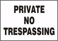 Private No Trespassing
