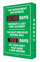 This Department has Worked #### Days Without a Lost Time Accident