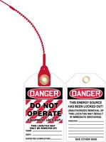 Danger To Not Operate Loop Safety Tag- Equipment Lock Out Tag