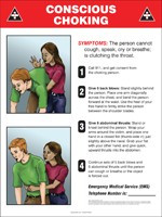 Emergency First Aid Poster  ... Choking Poster ..