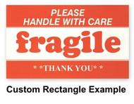 "Custom Paper Labels Rectangle 1"" x 2"""