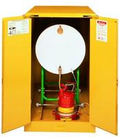Justrite Horizontal Drum Safety Cabinet- 55 gal.- Self Close