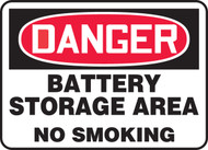 Danger - Battery Storage Area No Smoking - Plastic - 10'' X 14''