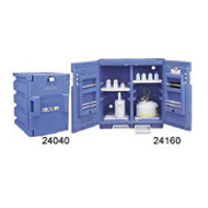 Justrite Polyethylene Safety Cabinet for Corrosives-  thirty 1- liter bottles