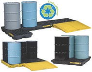 Spill Containment Accumulation Center 4 Drum Unit- Black