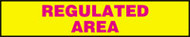 Regulated Area Sign- Radiation Slide Sign Insert