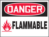 Danger Flammable - Max Aluma-Wood - 36'' X 48''