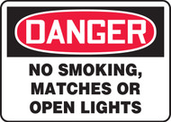 Danger No Smoking, Matches Or Open Lights