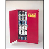 Eagle 60 Gallon Paint and Ink Safety Cabinet- Red- Self Close Doors