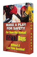 Outdoor Safety Scoreboard- Digi Day Plus Scoreboard SCM331
