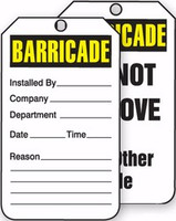 Barricade Status Alert Tag 1