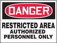 Danger - Danger Restricted Area Authorized Personnel Only - Max Aluma-Wood - 36'' X 48''