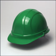 Hard Hat w/ 6 Point Suspension- Green