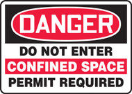 Danger- Do Not Enter Confined Space Permit Required