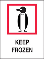 Keep Frozen Shipping Label
