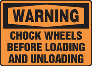 Warning Chock Wheels Before Loading And Unloading